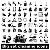 Big set Cleaning Icons — Stock Vector