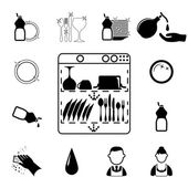 Icons set Cleaning — Stock Vector