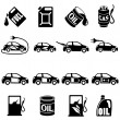 Set of Different Fuel Vector icons — Stock Vector