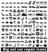 Big set car repair icons — Stok Vektör