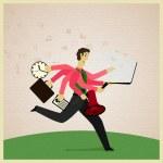 Multitasking — Stock Vector