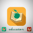 Icon education — Imagen vectorial
