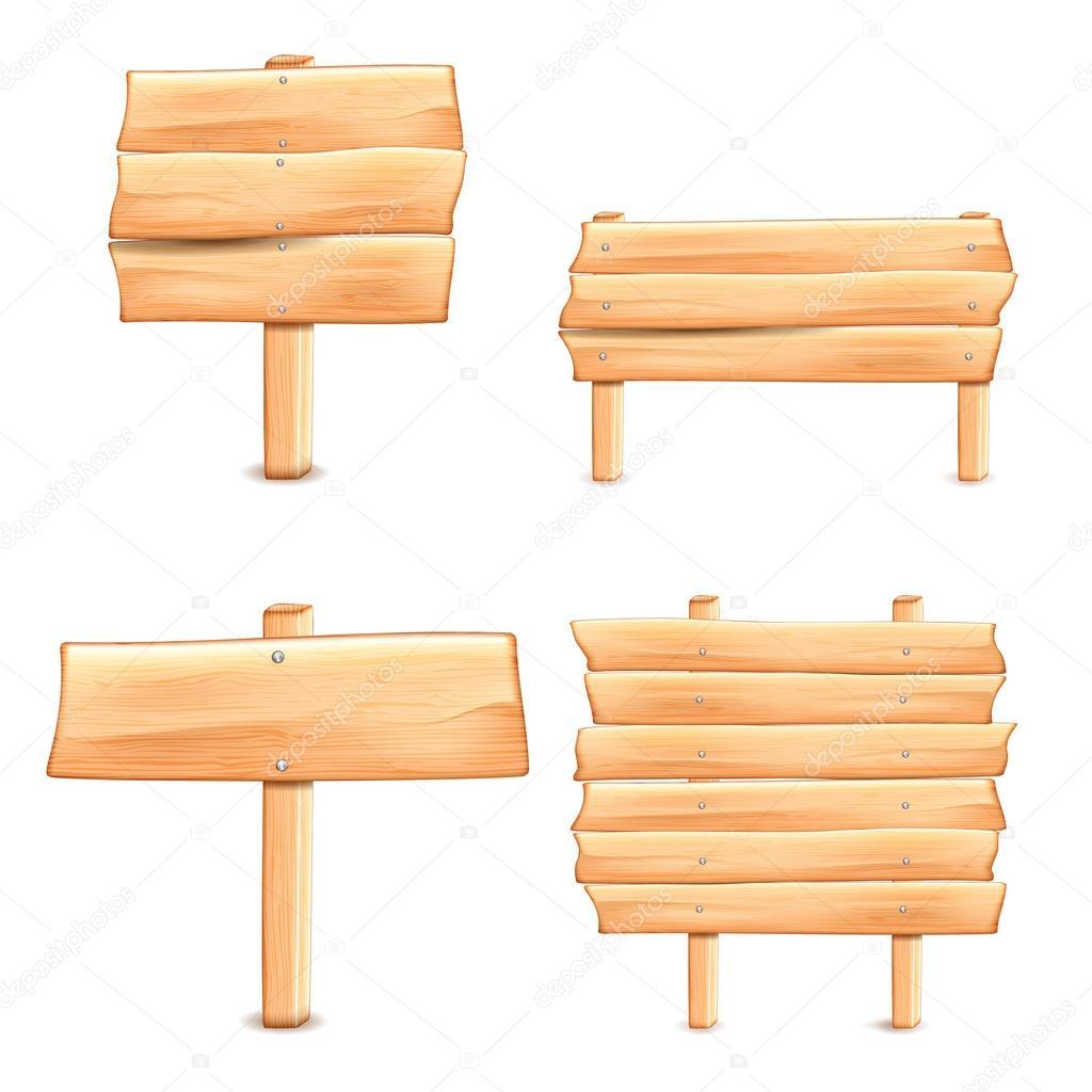 Panneau de signalisation en bois u2014 Image vectorielle #37367985