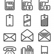 Set phone icon — Stock Vector #39691369