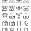 Set phone icon — Stock Vector #39691423