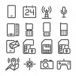 Set phone icon — Stock Vector #39691627
