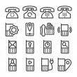 Set phone icon — Stock Vector #39691643