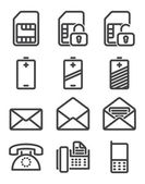 Set phone icon — Stock Vector