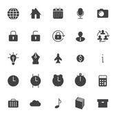Set icone per business, comunicazione, web — Vettoriale Stock