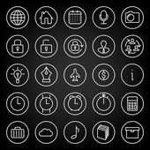 Set icons for business, communication, web — Stock Vector