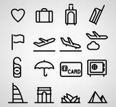 Icona di viaggio — Vettoriale Stock