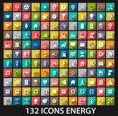 Energie- und ressourceneffizienz-icon-set — Stockvektor