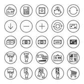 Banking icons set — Stock Vector