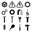 Set icons of tools — Stock Vector #41597571