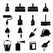 Set icons of tools — Stock Vector
