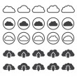 Stock Vector: Vector illustration of clouds collection