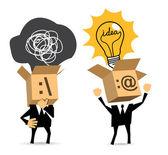 Thinks. Have an idea. — Stock Vector