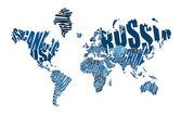 Text world map — Vetorial Stock