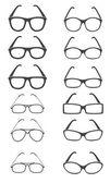 Glasses vector set — Stock Vector