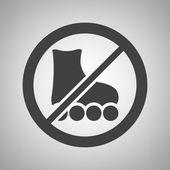 Do not ride icon — Stock Vector