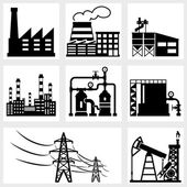 Industry icons — Stock Vector