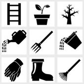 Garden icon — Stock Vector