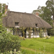 Traditional thatched roof cottage — Stock Photo