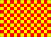 Wallpaper-red-yellow-squares — Stock Photo