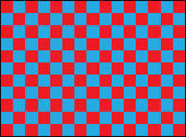 Wallpaper-blue-red-squares — Stock Photo