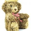 Old straw teddy bead — Stock Photo