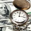 Stock Photo: Money, pocket Watch and calculator