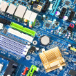 Computer motherboard electrical components — Stock Photo #17416093