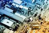 Composants électriques de carte mère d'ordinateur — Photo