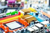 Computer motherboard elektrische komponenten — Stockfoto