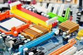 计算机主板电气组件 — 图库照片