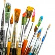Paint brushes isolated on white — Stock Photo
