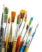 Paint brushes isolated on white — 图库照片