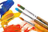 Paint brushes isolated on white — Stock Photo