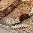 Royalty-Free Stock Photo: Bread and rye spikelets
