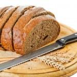 Rye bread and rye ear — Stock Photo
