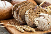 Bread and grain — Stock Photo