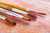 Peintures et pinceaux — Photo