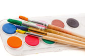Farben und pinsel — Stockfoto
