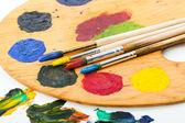 краски и кисти — Стоковое фото