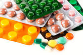 Heap of colorful pills. — Stock Photo