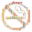 Word Cloud of No Smoking Sign — 图库照片