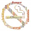 Word Cloud of No Smoking Sign — Stockfoto