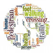 Royalty-Free Stock Photo: Word Cloud of Pedestrian Sign