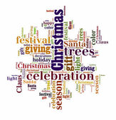 Word Cloud of Christmas Snow — Stock Photo