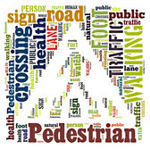 Word Cloud of Pedestrian Sign — Stock Photo
